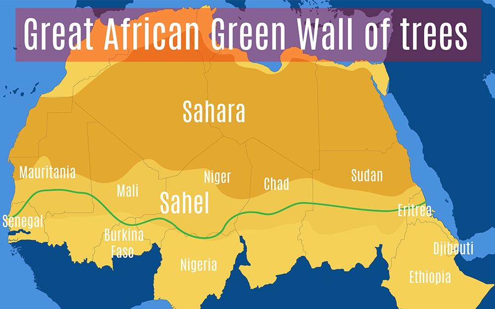 Afrika bouwt muur dwars door het continent