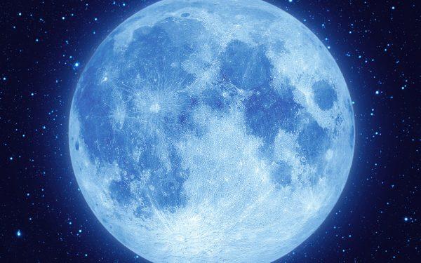 Gloeiende maan