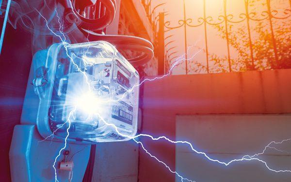 Watt,Hour,Meter,With,Electricity,Short,Circuit,Danger,Of,Overuse